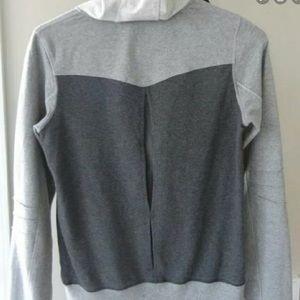 NWOT Lululemon Grey/Black With Pleated Back Hoodie